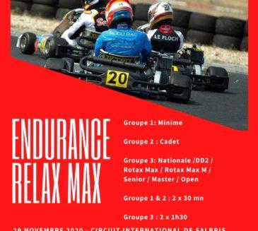 Les inscriptions pour l'Endurance Relax Max sont ouvertes